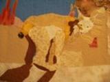 Lynx art quilt