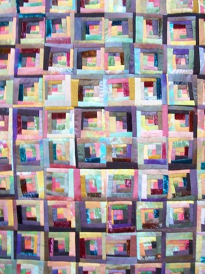 Product picture Log Cabin silk quilt