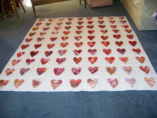 Product picture Crazy Heart Quilt silk